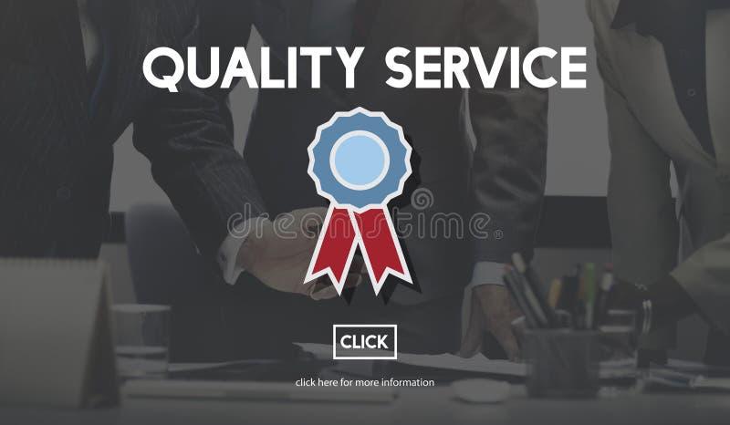 Qualitäts-Service-bestes Garantie-Wert-Konzept lizenzfreies stockbild