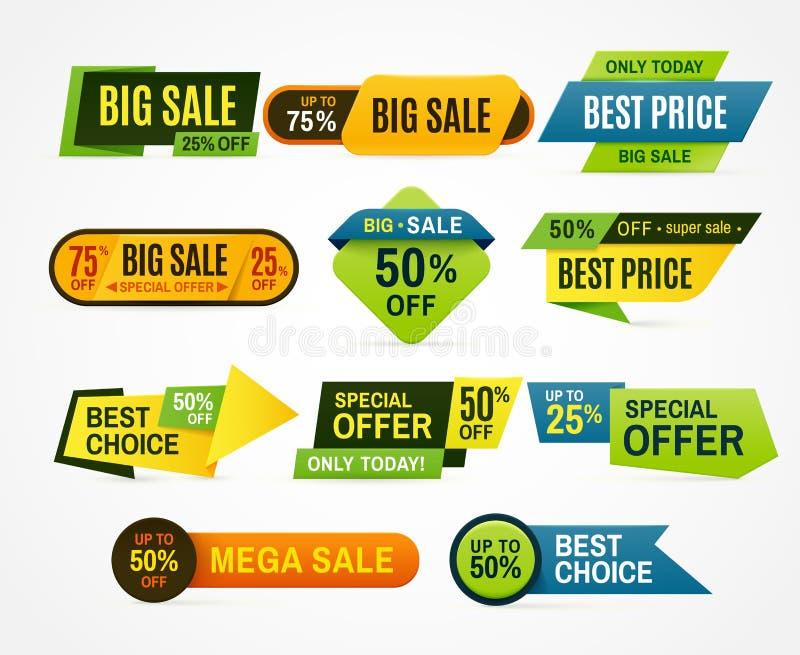 Qualitäts- und Zufriedenheitsgarantieausweise Vektor Preisaufkleber Fahnenaufkleber- oder -zusammenfassungsflieger Grafik für Ang vektor abbildung