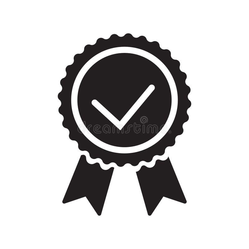 Qualitätskontrollbandikone Zugelassene oder beste Wahl des Vektorproduktes empfahl anerkanntes Zertifikatkennzeichen des Preises  stock abbildung