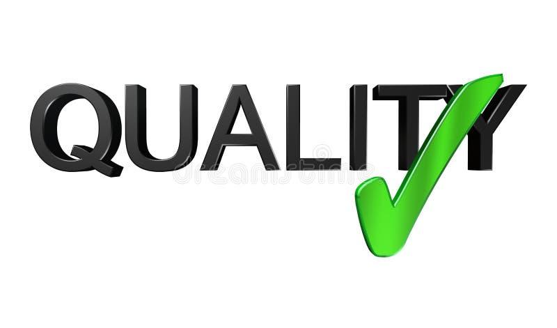 Qualitätskontrolle stock abbildung