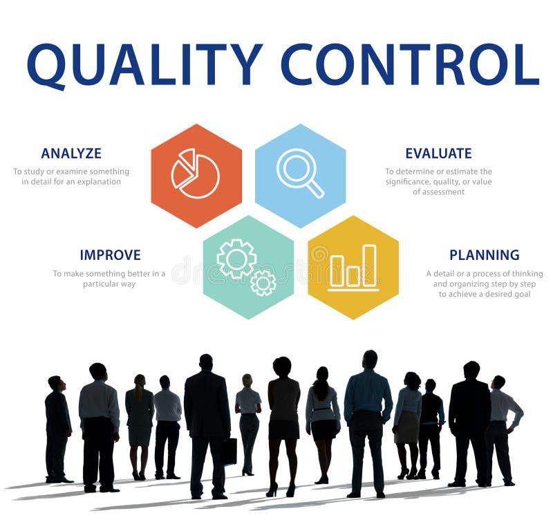 Qualitätskontrollkontrollprodukt-Konzept lizenzfreies stockfoto