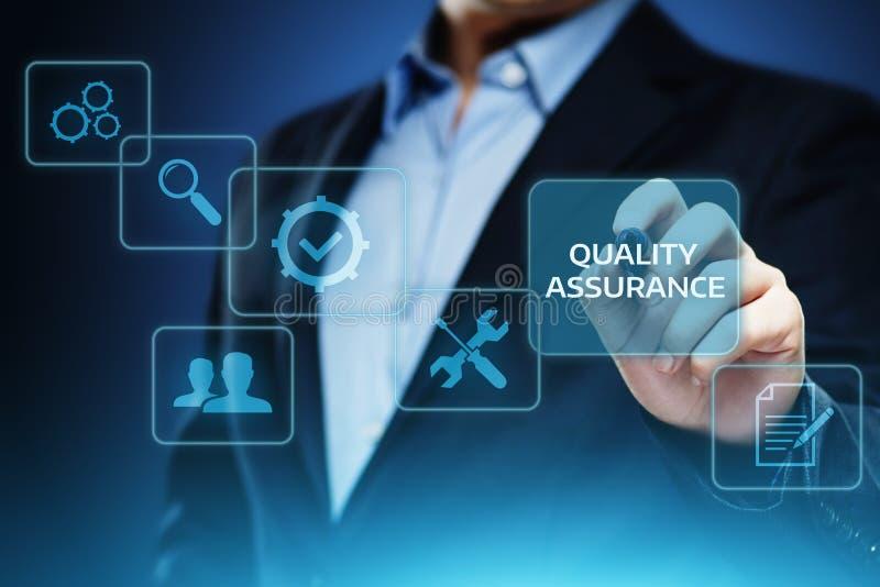 Qualitätssicherungs-Service-Garantie-Standardinternet-Geschäfts-Technologie-Konzept lizenzfreie stockfotografie