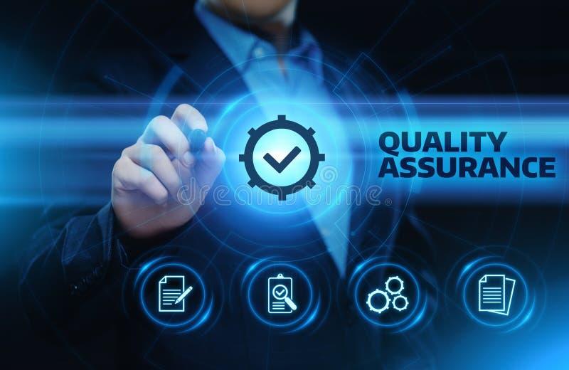 Qualitätssicherungs-Service-Garantie-Standardinternet-Geschäfts-Technologie-Konzept lizenzfreie stockfotos