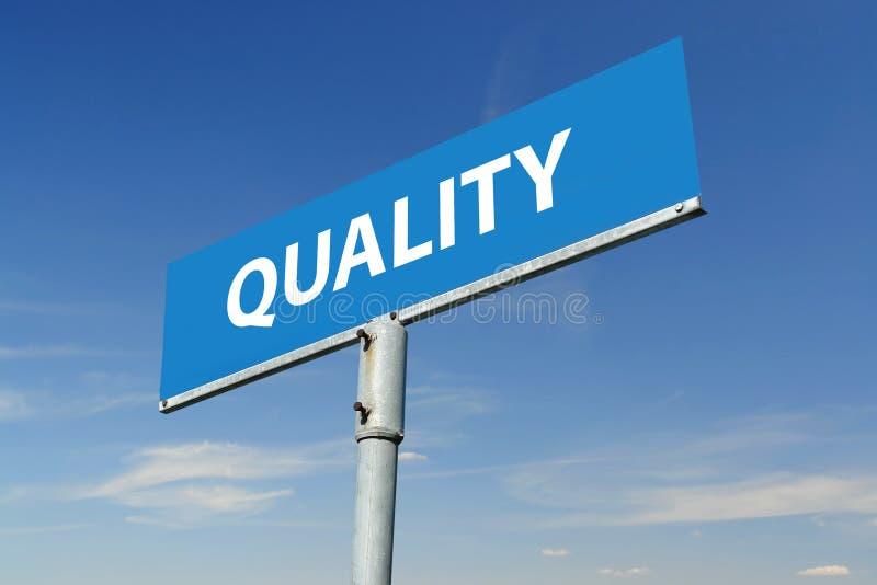 Qualitätssignpost stockfotos