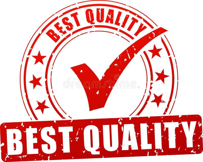 Qualitätsstempelikone stock abbildung