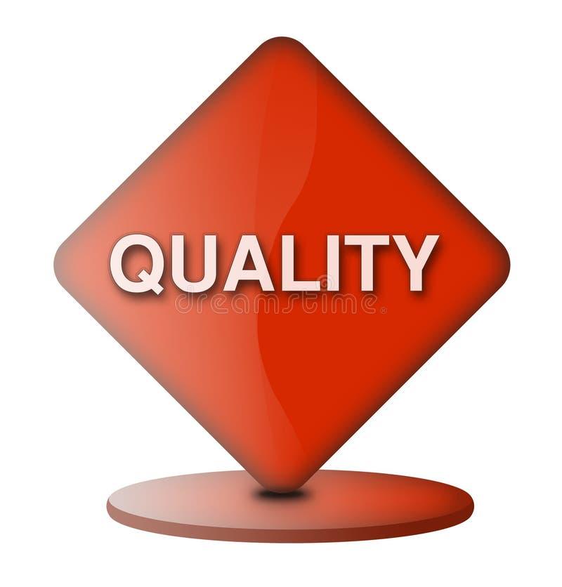 Qualitätszeichen stock abbildung