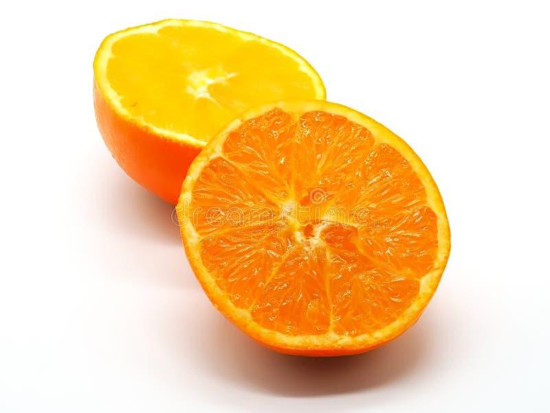 Qualité coupée fraîche d'une orange juteuse photographie stock