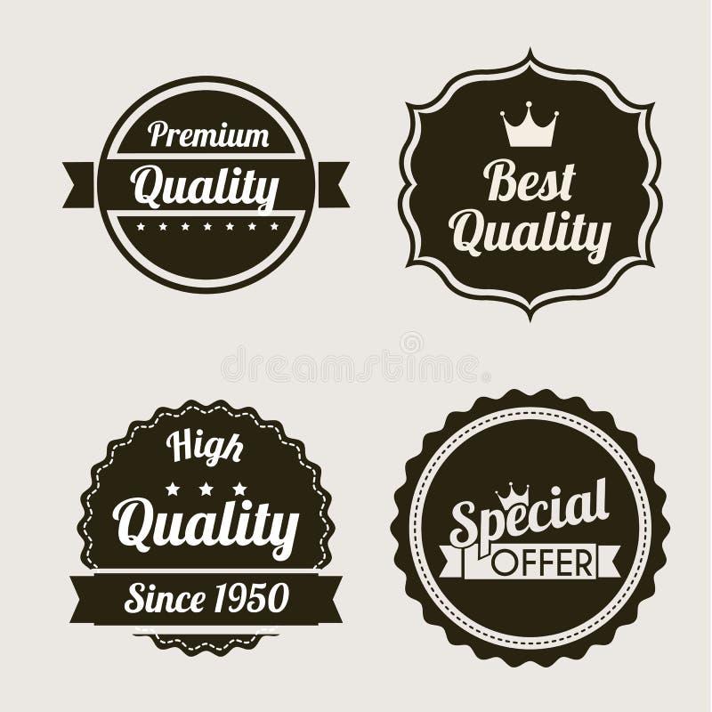 Qualité de la meilleure qualité illustration de vecteur
