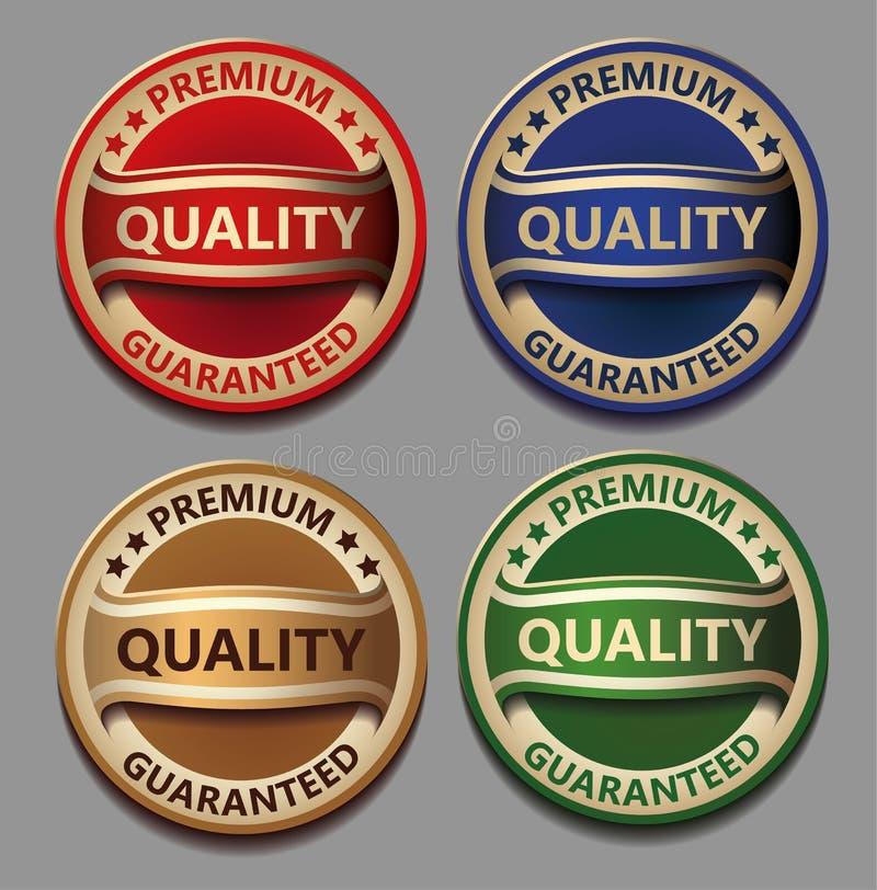 Qualité de la meilleure qualité réglée garantie illustration stock
