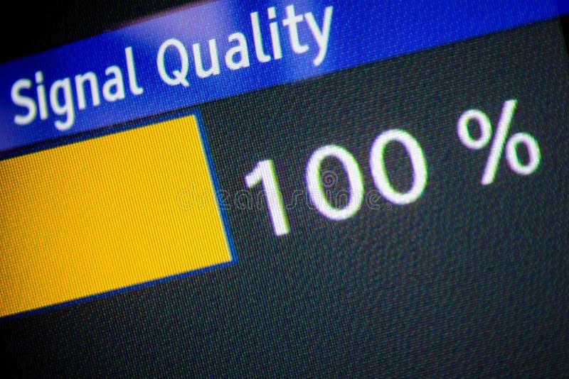 Qualité du signal 100% image stock