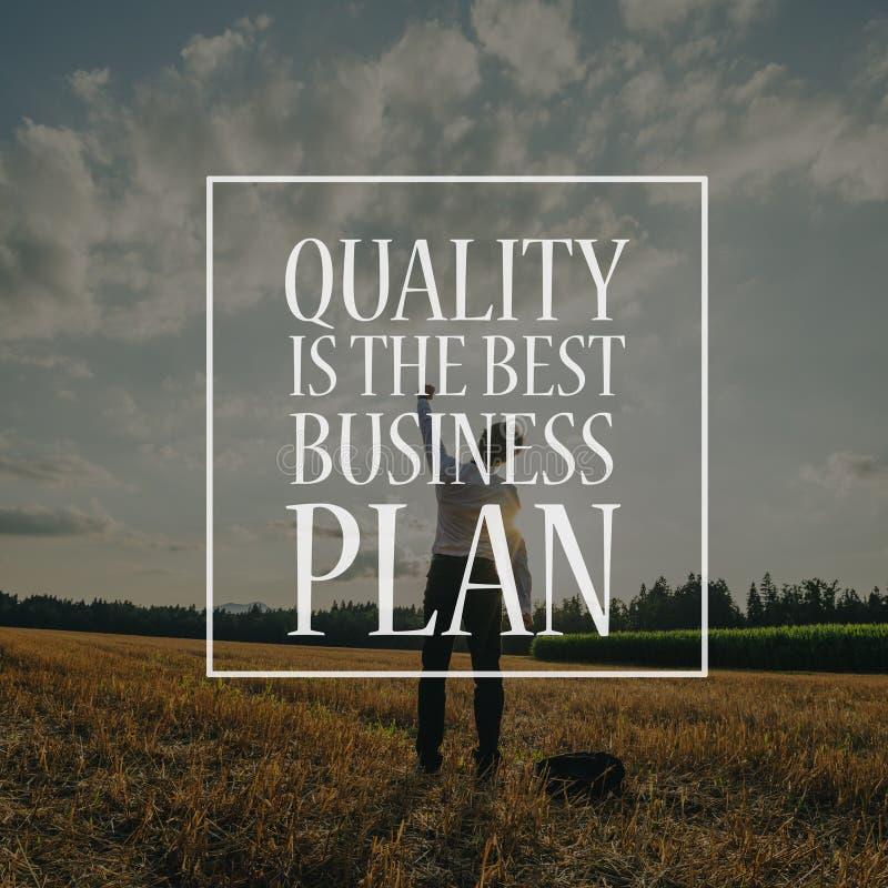 Qualit?t ist der beste Unternehmensplan lizenzfreies stockbild