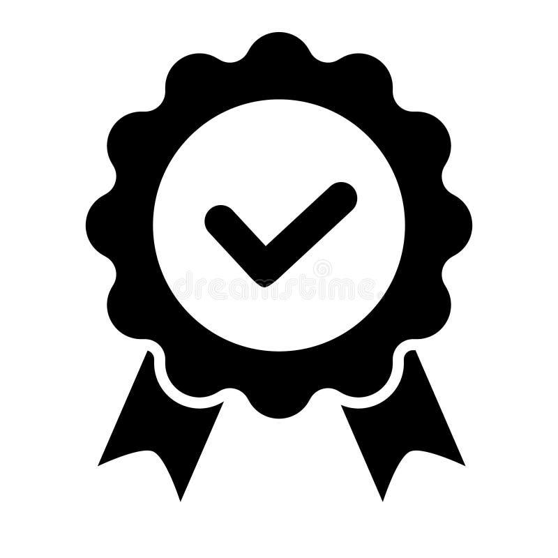 Qualit?tskontrollbandikone Zugelassene oder beste Wahl des Vektorproduktes empfahl anerkanntes Zertifikatkennzeichen des Preises  lizenzfreie abbildung