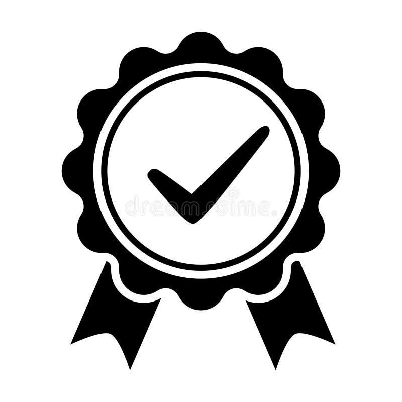 Qualit?tskontrollbandikone Zugelassene oder beste Wahl des Vektorproduktes empfahl anerkanntes Zertifikatkennzeichen des Preises  vektor abbildung