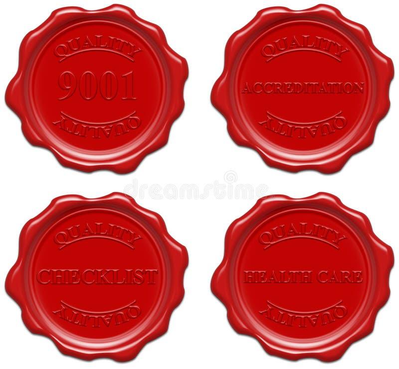 Quality: 9001, accreditation, checklist, health care vector illustration