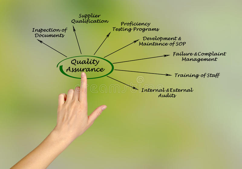 Quality Assurance. Presenting diagram of Quality Assurance royalty free stock images