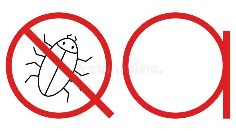 Quality assurance testing software bug detecting logo royalty free illustration