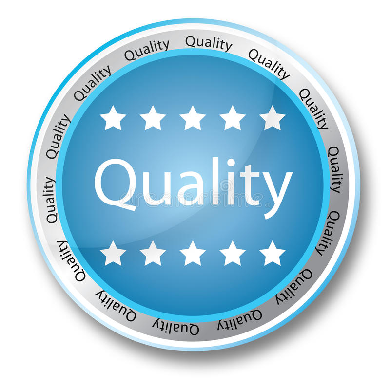 Quality button royalty free illustration