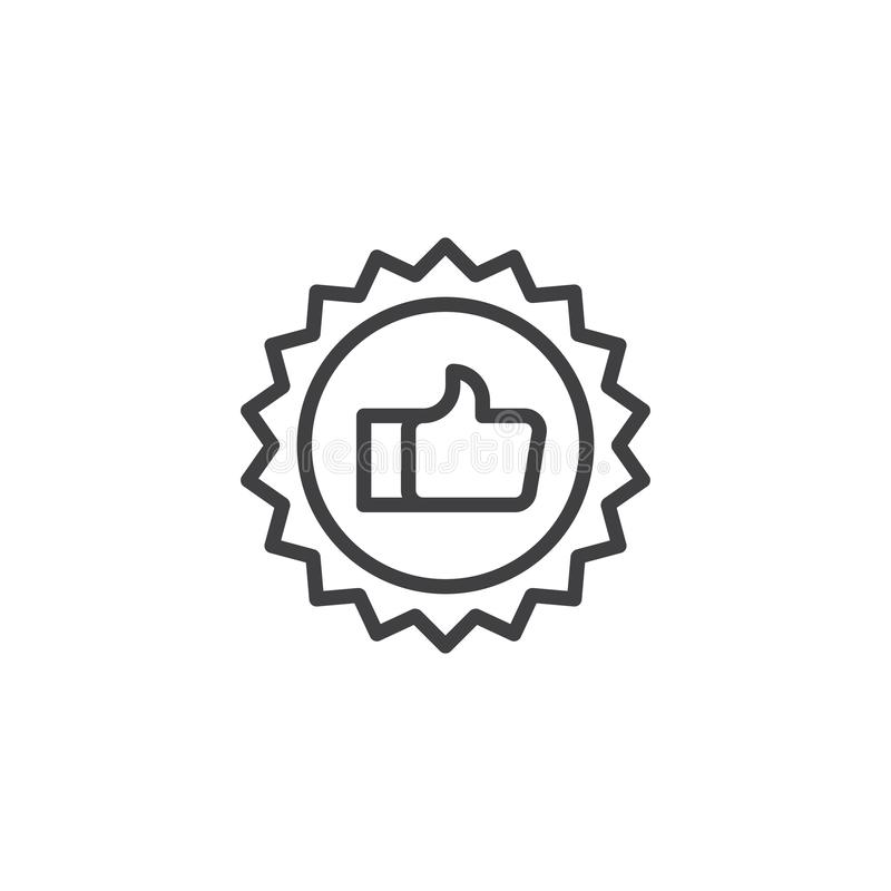 Quality certificate outline icon royalty free illustration