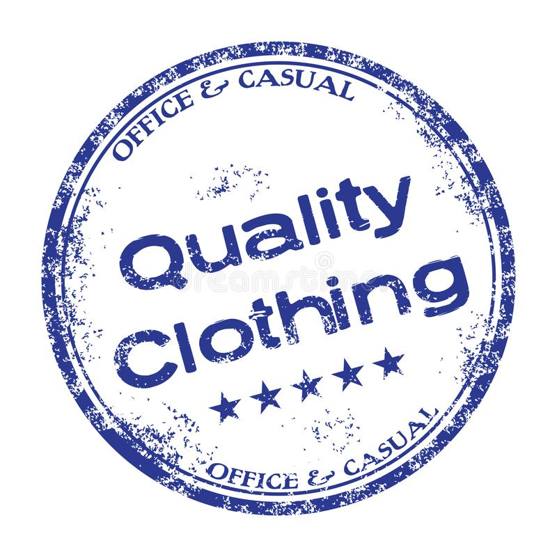 Quality clothing stamp royalty free stock photo