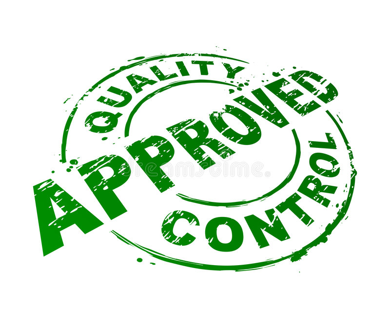 Quality Control Approved royalty free illustration