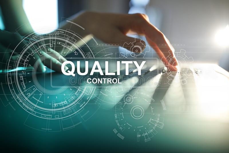 Quality control check box. Guarantee Assurance. Standards, ISO. Business and technology concept. Quality control check box. Guarantee Assurance. Standards, ISO stock image