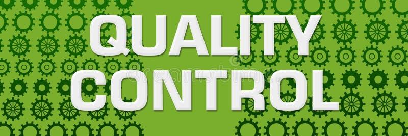 Quality Control Green Gears Horizontal vector illustration