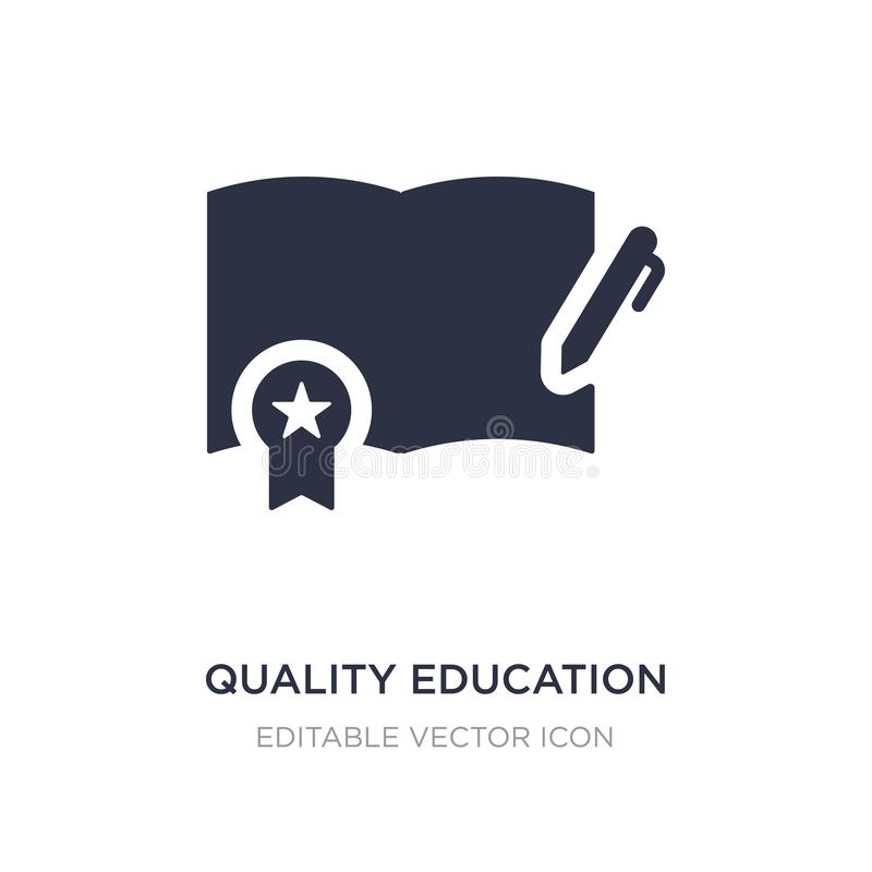 quality education icon on white background. Simple element illustration from Education concept royalty free illustration