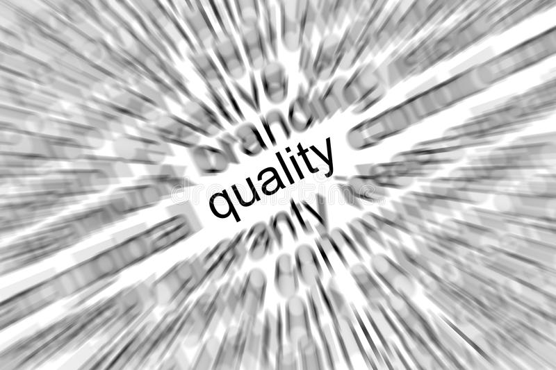 Quality Focus Concept. Work on visual screen businessman royalty free stock photo