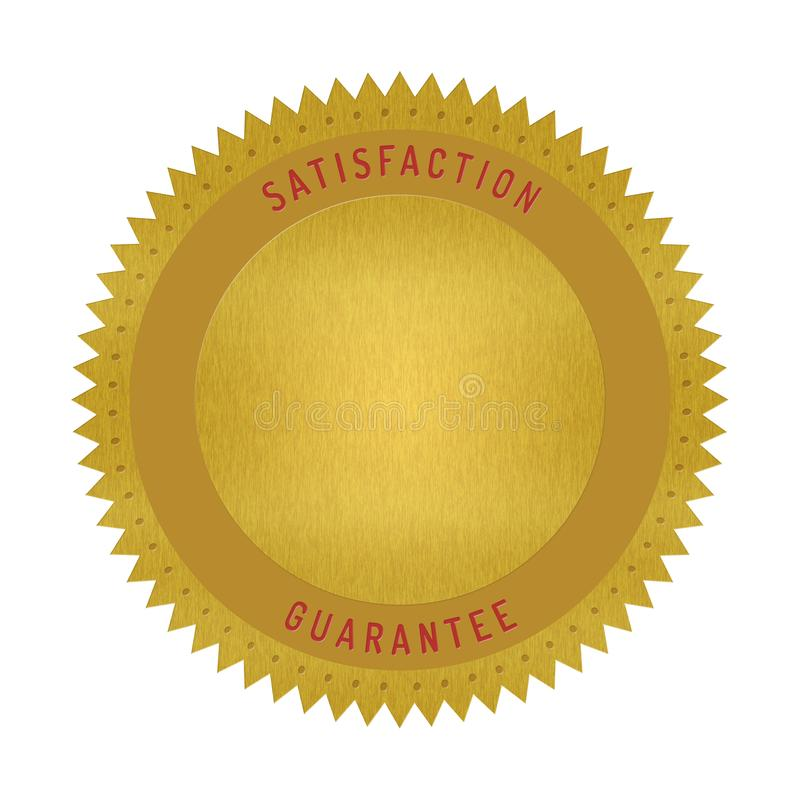 Free Quality Guarantee Badge Isolated On White Royalty Free Stock Images - 111093799