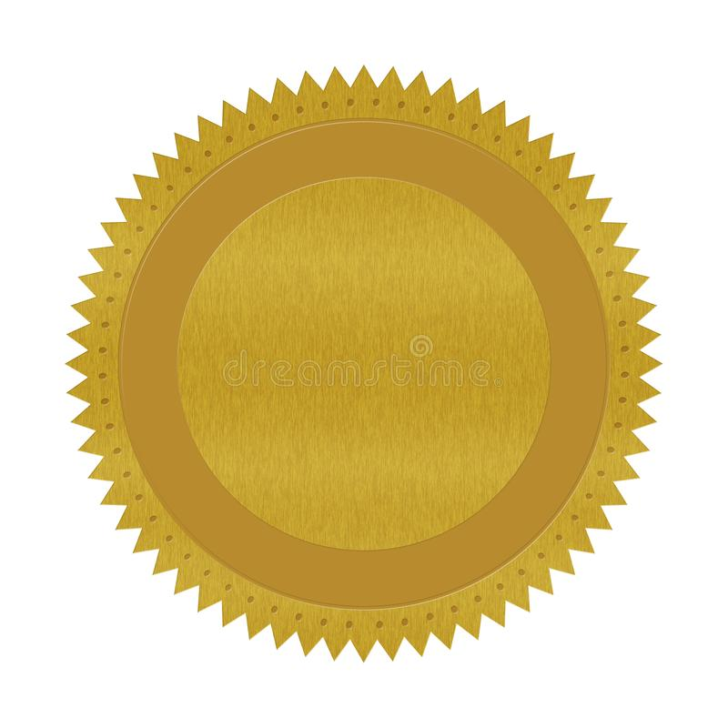 Quality guarantee badge isolated on white vector illustration