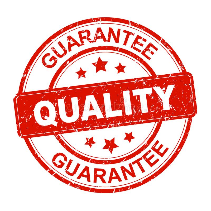 Quality guarantee stamp royalty free illustration
