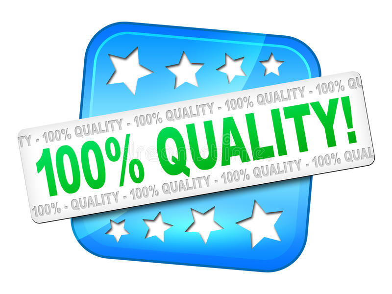 Quality guarantee. A quality guarantee symbol for your website vector illustration