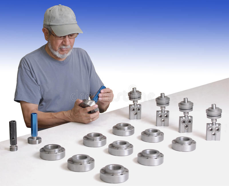 Download Quality Inspector at work stock photo. Image of tool - 10790940