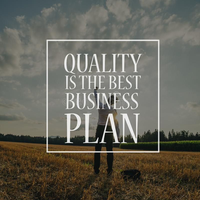 Free Quality Is The Best Business Plan Royalty Free Stock Image - 154224256