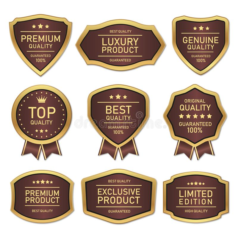 Quality label pack royalty free stock image