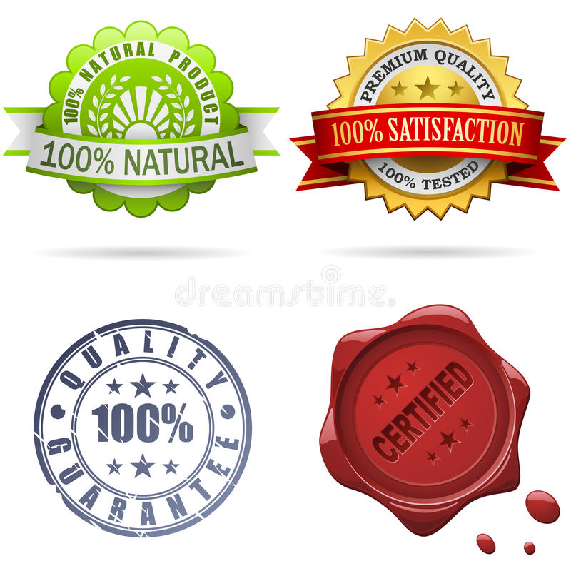 Download Quality labels and seals stock vector. Image of marketing - 13399936
