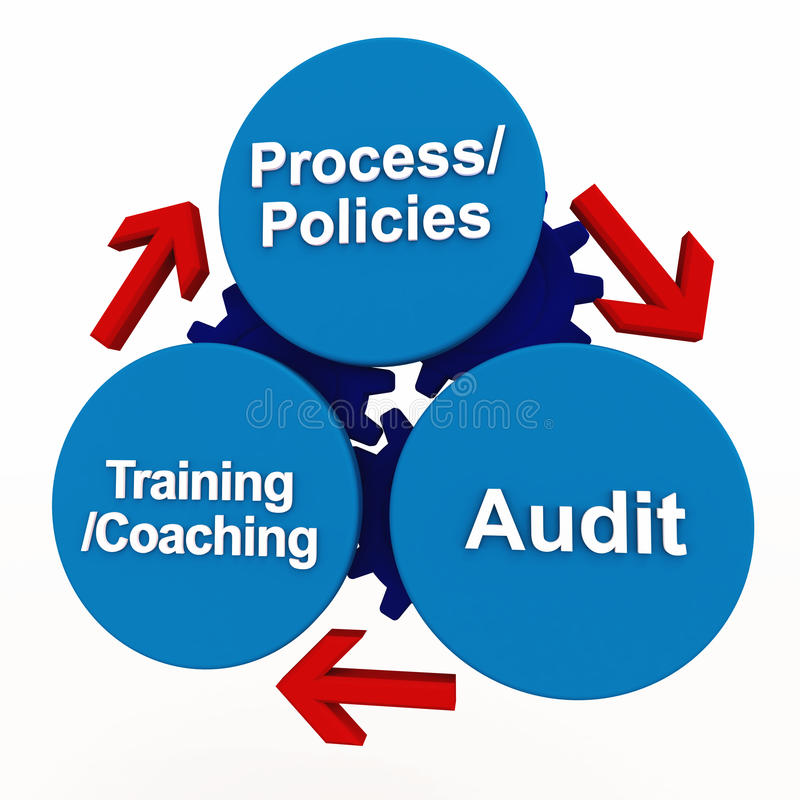 Download Quality management process stock illustration. Image of chart - 24752569