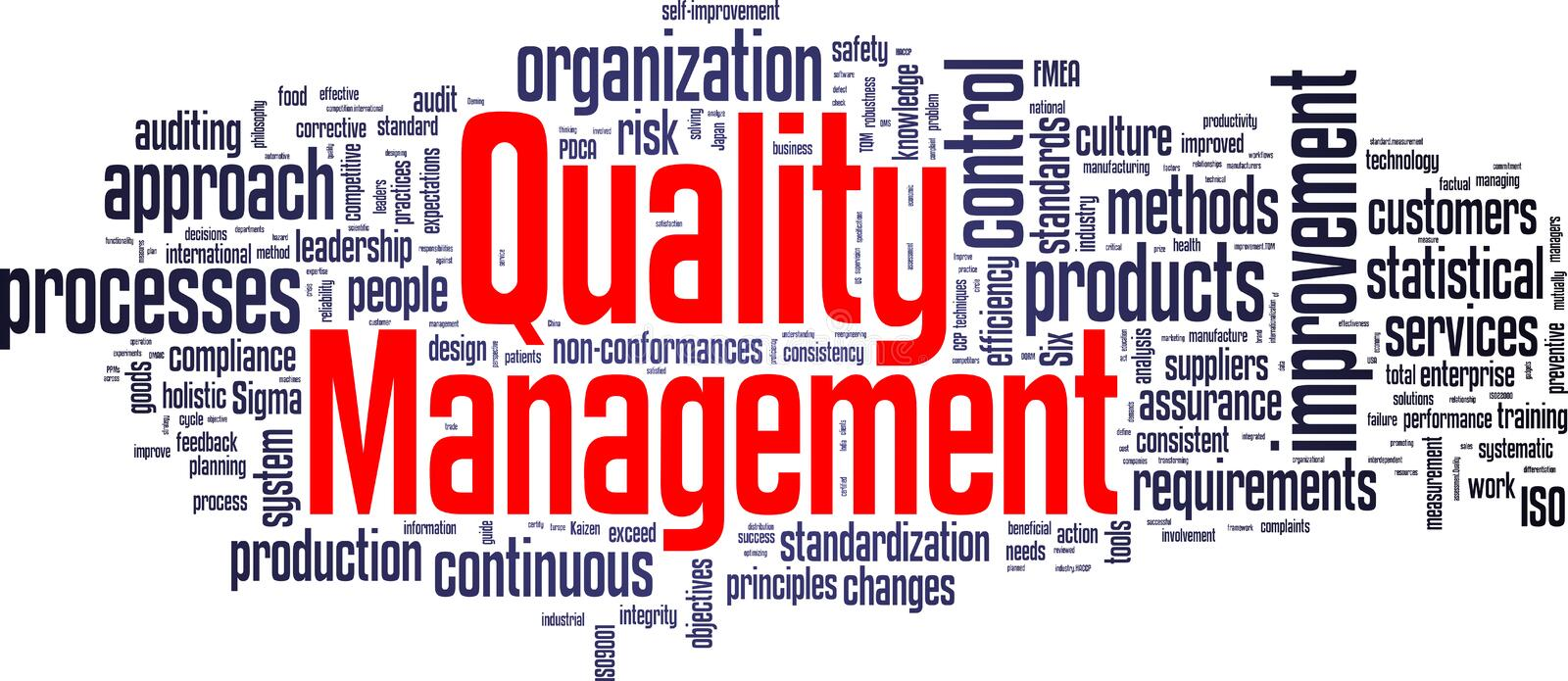 Quality Management Tag Cloud stock photo