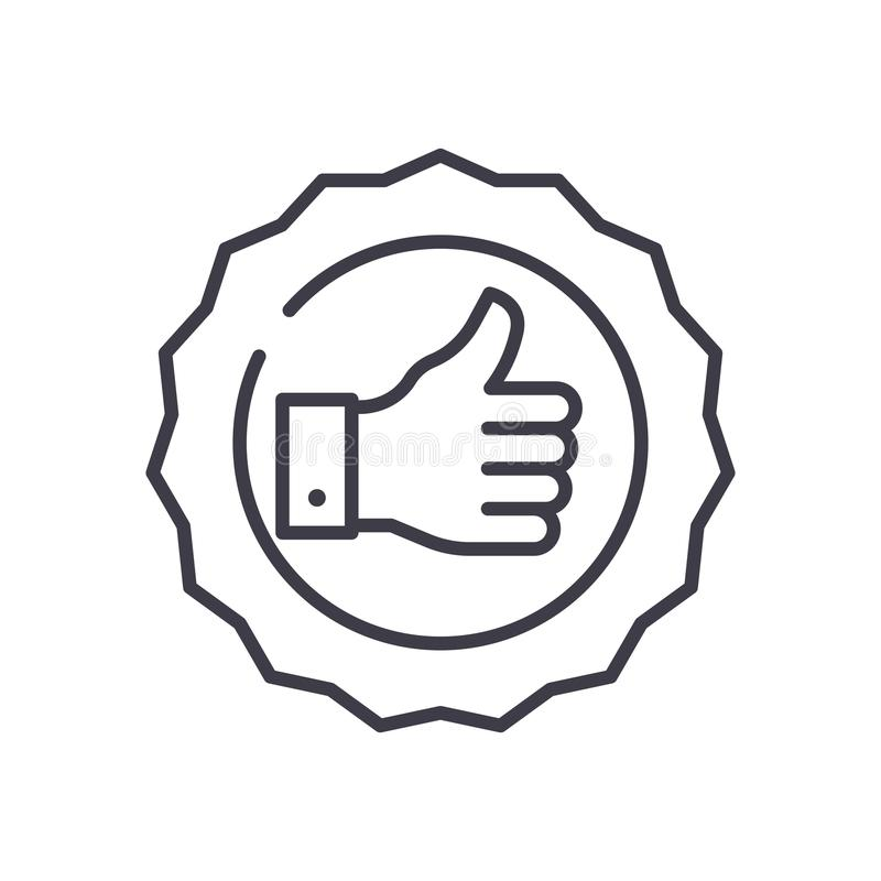 Quality mark black icon concept. Quality mark flat vector symbol, sign, illustration. Quality mark black icon concept. Quality mark flat vector website sign vector illustration