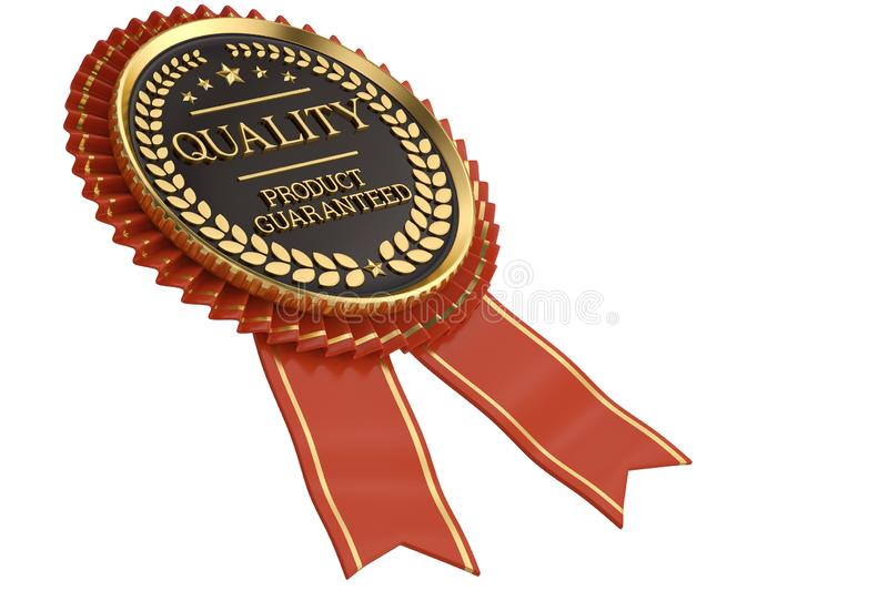 Quality medal isolated on white background. 3D illustration.  royalty free illustration