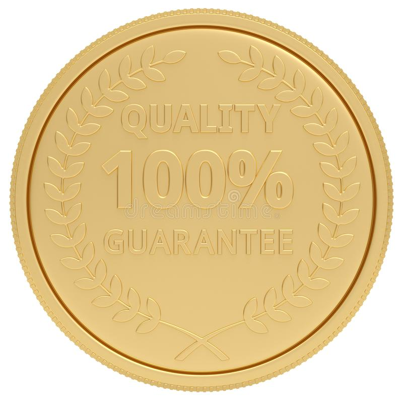 Quality medal isolated on white background. 3D illustration.  stock illustration