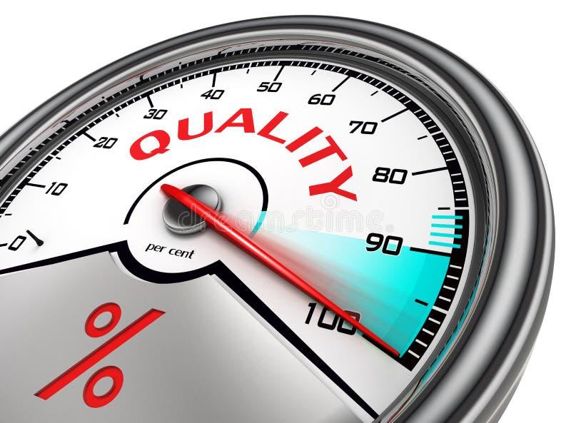 Quality meter hundred per cent vector illustration