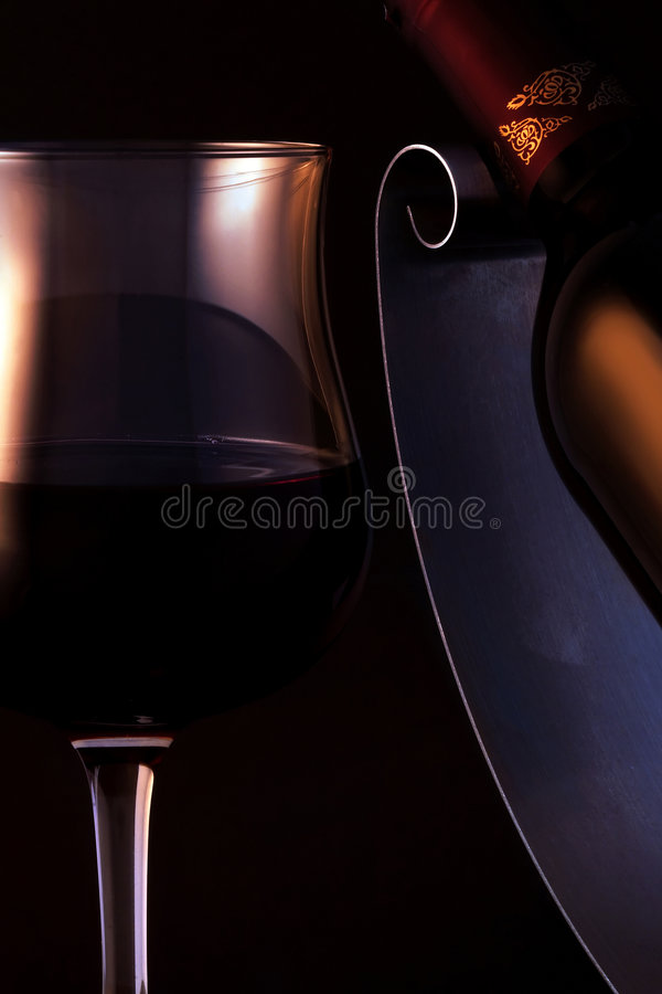 Quality red wine stock photo
