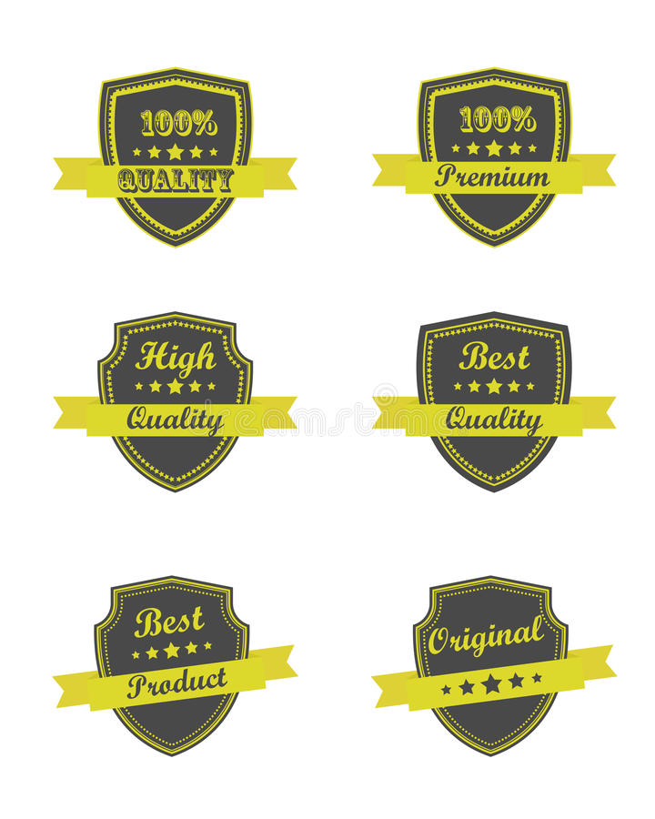 Download Quality ribbons stock vector. Image of network, customer - 25826338