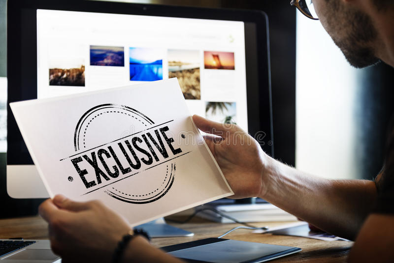 Quality Service Guaranteed Premium Quality Concept royalty free stock photos