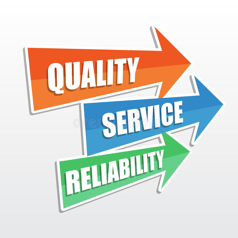 Free Quality, Service, Reliability, Flat Design Arrows Royalty Free Stock Images - 38496709