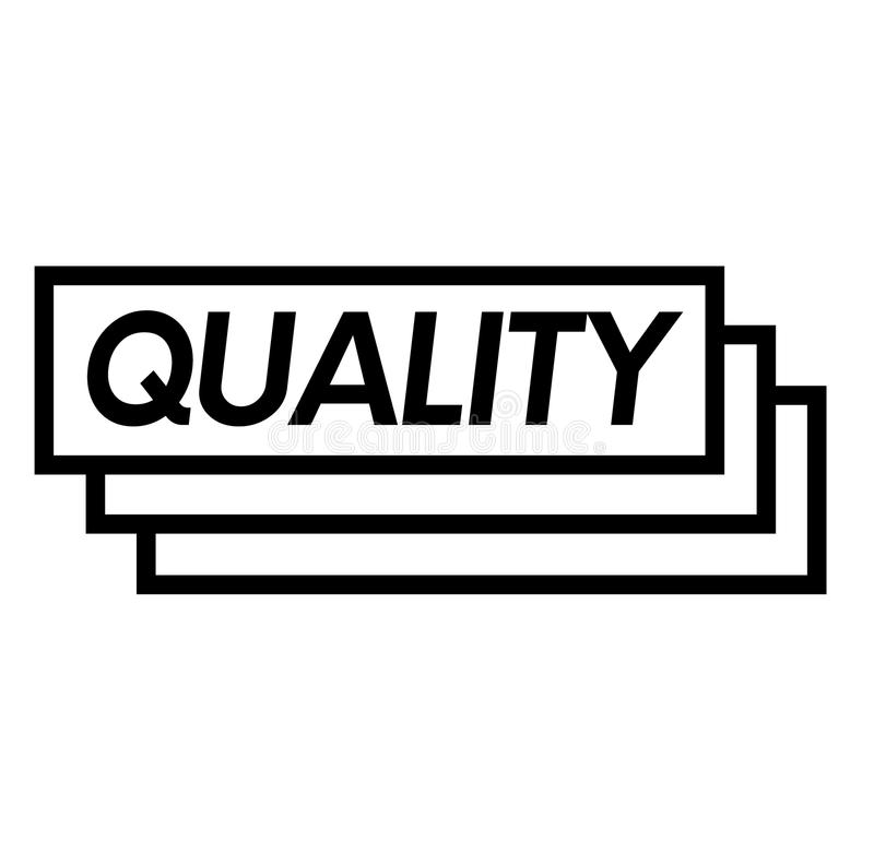 Quality stamp on white. Background . Sign, label sticker royalty free illustration