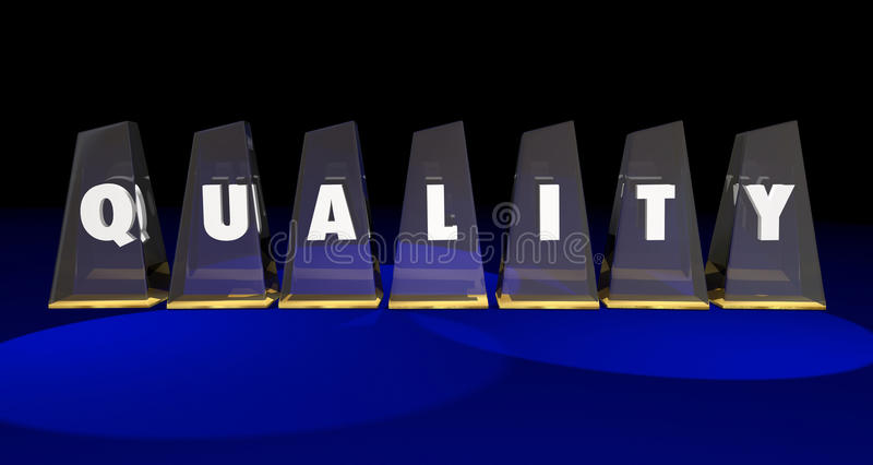 Quality Top Best Value Awards Letters Word vector illustration