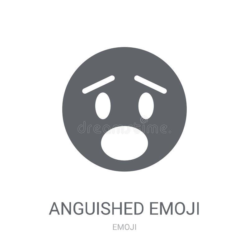 Qualvolle emoji Ikone  stock abbildung