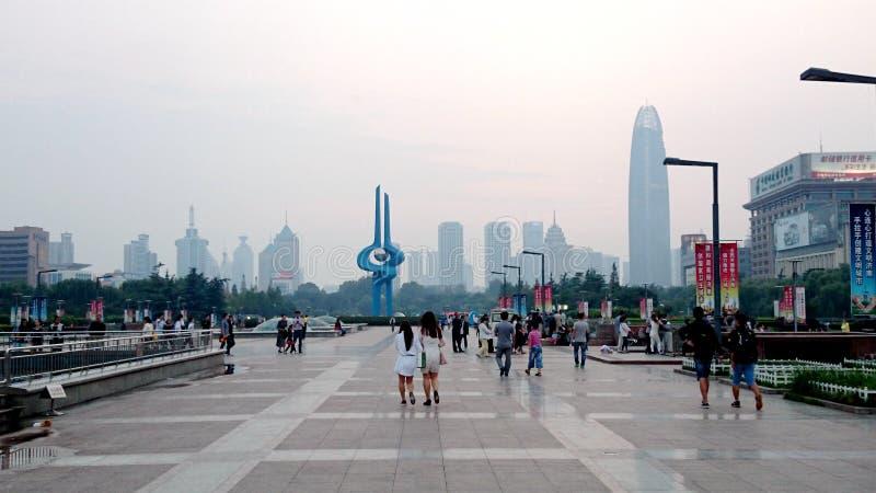 Quancheng-Quadrat, Jinan Shandong, China lizenzfreies stockfoto